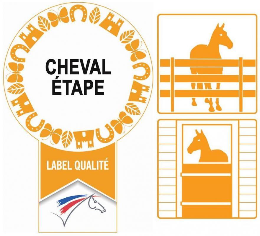 Label cheval etape